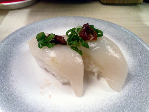 Squid Sushi with Liver