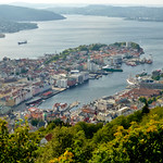 View on the city of Bergen, Norway