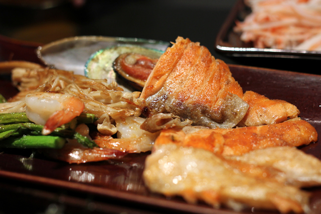 Grilled Salmon at Oishi Grand Buffet in Bangkok, Thailand