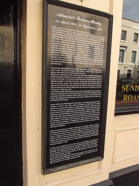 Photo of Thomas Hardy black plaque
