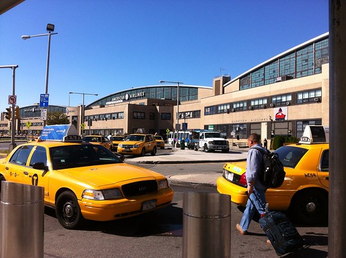 New York Taxi Stand at LaGuardia Airport Photo i096 by Grant Wickes