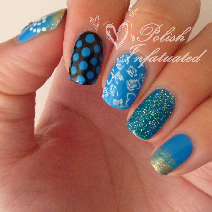 the blues-polka dot, flowers, butterflies and glitter2