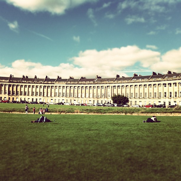 Royal Crescent, Bath. Feels like I've been transported back to the time of Jane Austen.