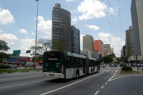 Straßenpanorama in Etaim einem eher sicheren Viertel Sao Paolos