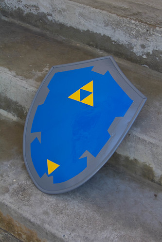 View of Hylian shield in progress