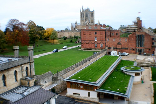View from Castle Walls with Lincoln Cathedral in background