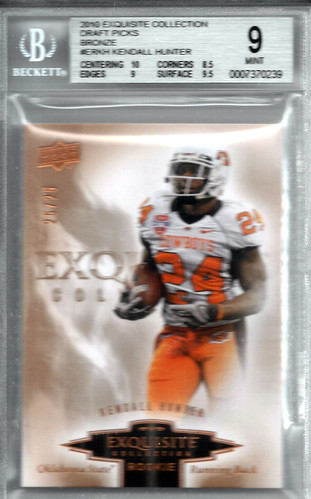2010 Exquisite Collection Draft Picks Bronze #ERKH Kendall Hunter (25 of 25) BGS 9