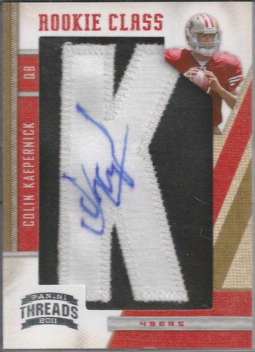 2011 Panini Threads #257 Colin Kaepernick AU RC 10K (340 of 500)