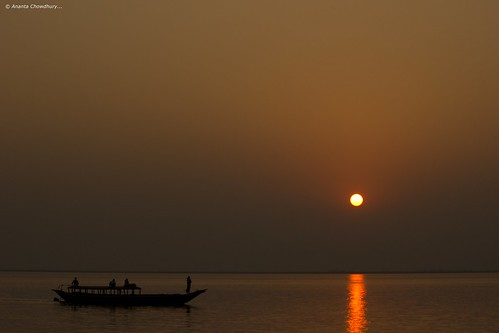 sunset silhouette rural canon river landscape boat asia village sundown bangladesh southasia 550d 55250mm