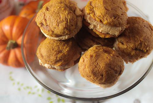 Pumpkin Whoopie Pies with Biscoff Cream