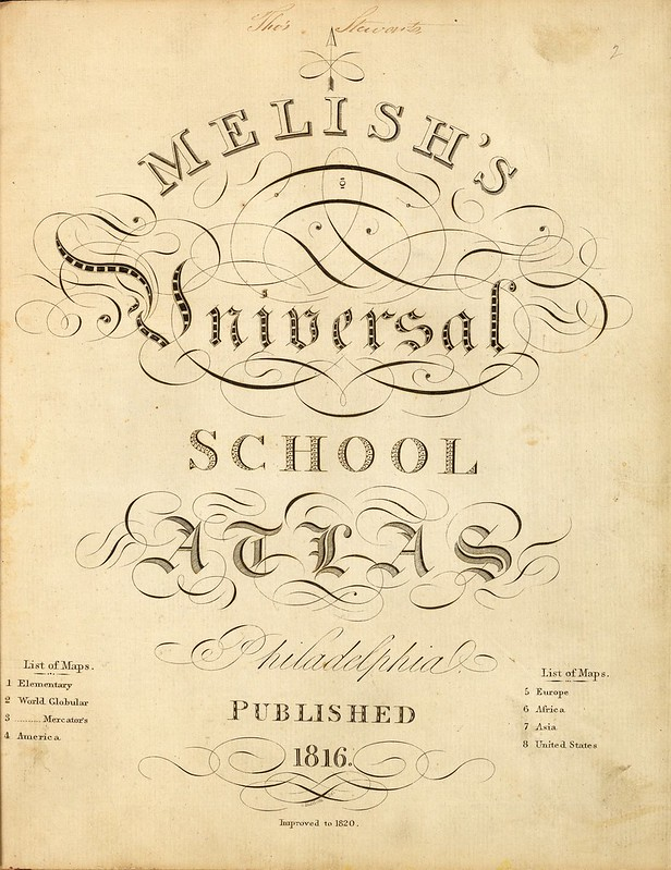 Melish's Universal School Atlas 1820