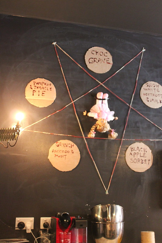 Pentagram with doll
