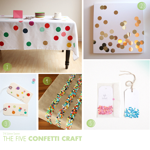 {the five} confetti craft