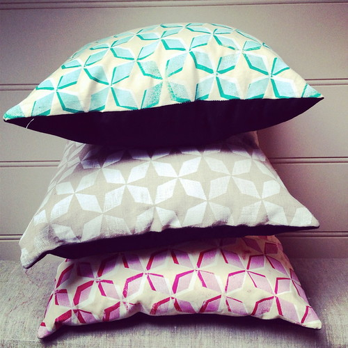 blockprint cushions