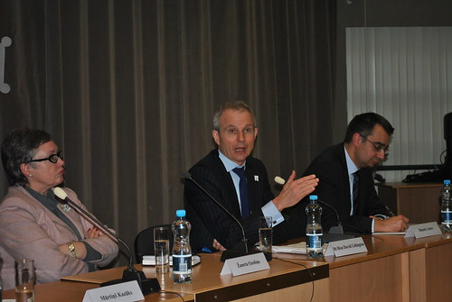 At the discussion with the Minister of Europe David Lidington