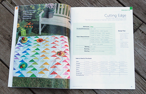 Cutting Edge Quilt Pattern in Modern Quilts Unlimited - Premier Issue, Fall 2012