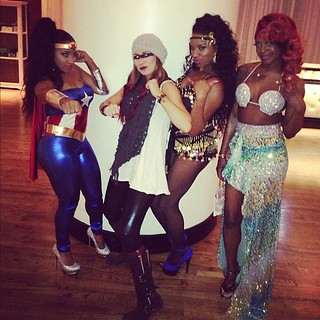 Lil Wayne baby mother Toya Wright wonder woman costume