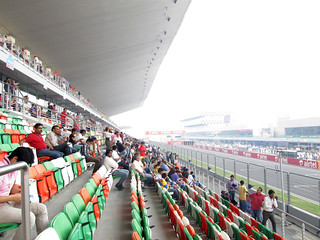 View from main grandstand