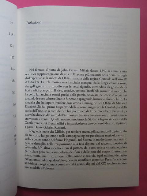 Lucinda Hawksley, Lizzie Siddal. Odoya 2012. [responsabilità grafica non indicata]. Pag. della prefazione (part.), 1