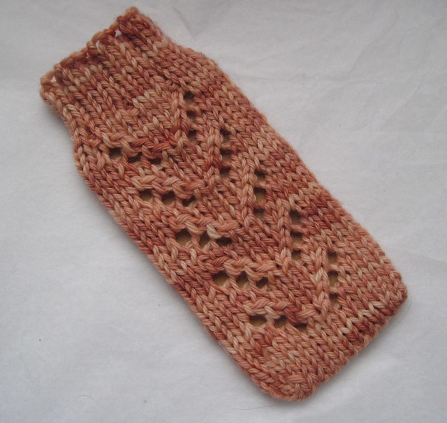 Phone Cozy - handknit from wahm dyed yarn