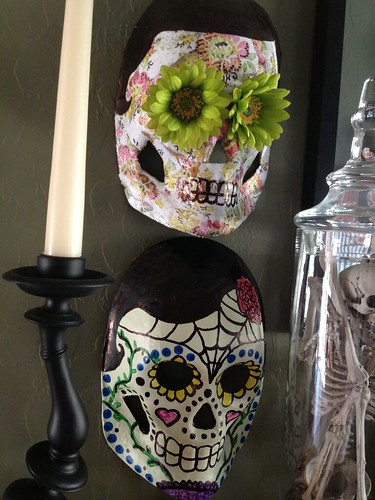 Day of the Dead Masks by Heather Says