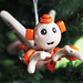 Orange Oxie Robot Angel Christmas Ornament