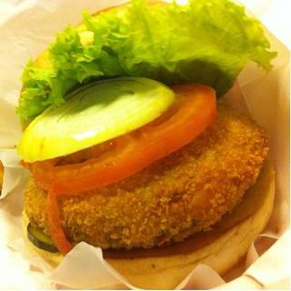 Shrooms Vegetarian Burger @ Charlie's Grind and Grill