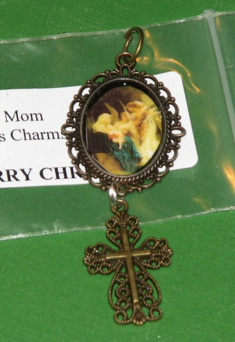 Ink Stains Altered Christmas Charm Swap 001