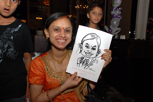 caricature live sketching for baby cradle - 8