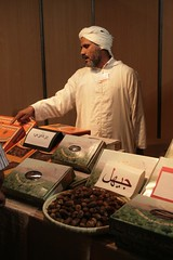 Vendedor de tamaras no sul de Marrocos