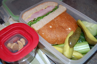 big ham sandwich bento for the hubs