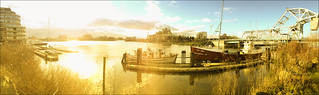 January sunny harbour .. Vancouver Island panorama
