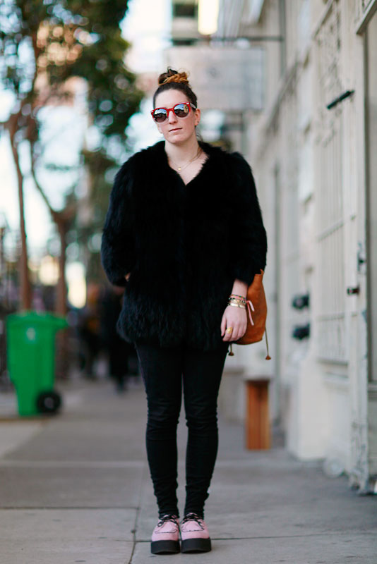 blackfur street style, street fashion, women, Valencia Street, San Francisco
