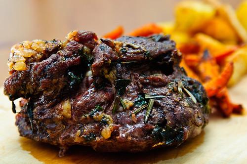 Roast Lamb, Carrots and Potatoes