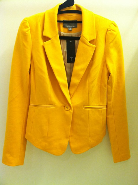 Tiny Road Bleeker Blazer in Canary Yellow,sz XS(正面)