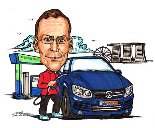 Caricature for Neste Oil