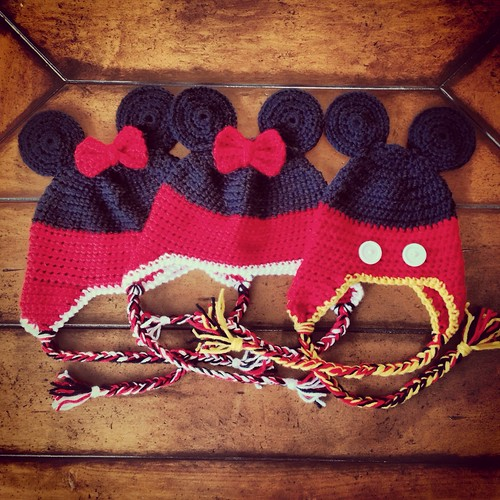 Mickey Minnie beanies