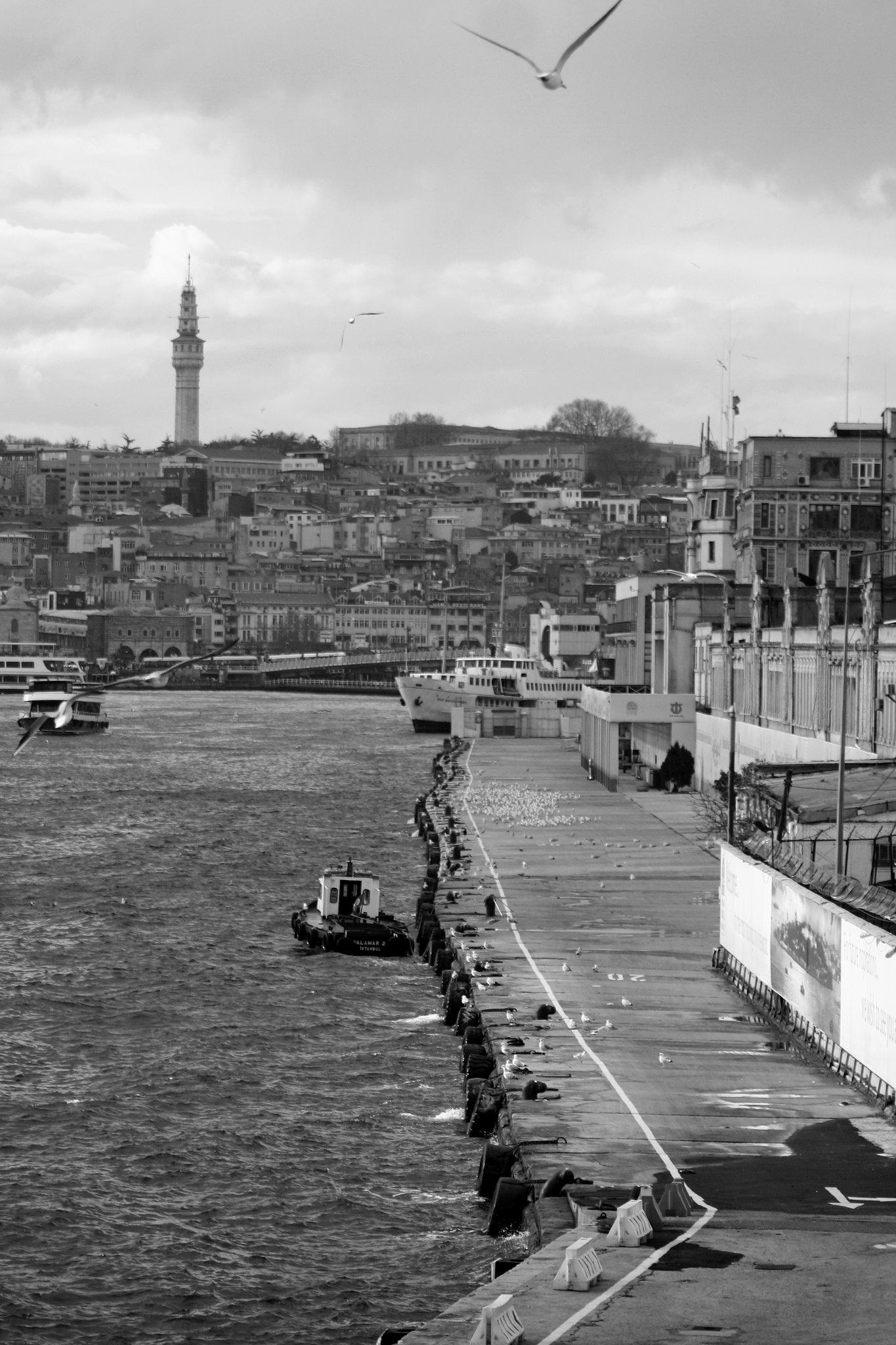 The view towards Galata Bridge.