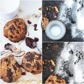 коллаж печенья с макадамией и шоколадом.2