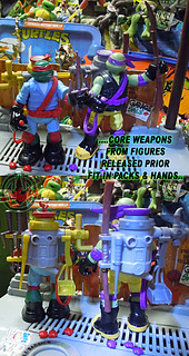 "Nickelodeon ""MUTAGEN OOZE"" TEENAGE MUTANT NINJA TURTLES :: OOZE TOSSIN' RAPH & OOZE SCOOPIN' DONNIE v // ..backpacks (( 2013 ))"