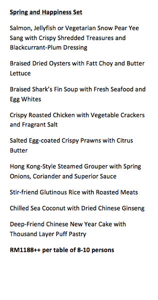 CNY 2013- Tai Zi Heen, Prince Hotel & Residence KL