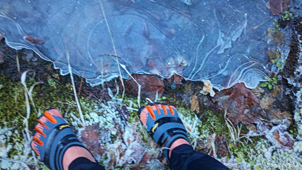 Minimal footwear ice