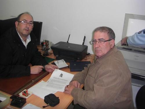 Gutierrez y Leiva firman el convenio