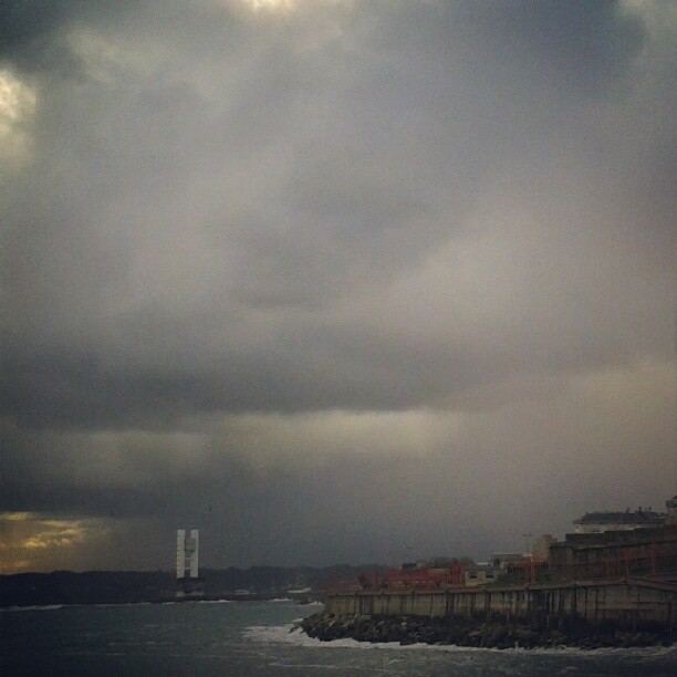 Después de la tempested viene... más tempestad! Brrr... #winter #rain