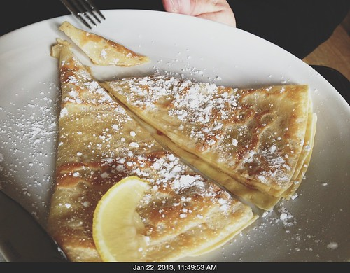 Lemon sugar crepe