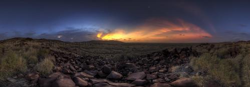 Sunset Lightning Pano