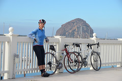 Tricia and Morro Bay rock