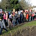 Save Lewisham Hospital: protestors in Mountsfield Park
