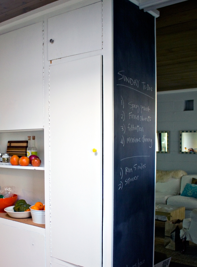 Kitchen update: chalkboard wall