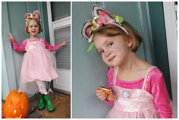 Angelina Ballerina Halloween costume (October 2012)